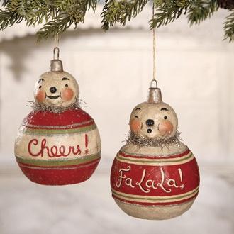 Snow Bauble Ornaments | A Johanna Parker design