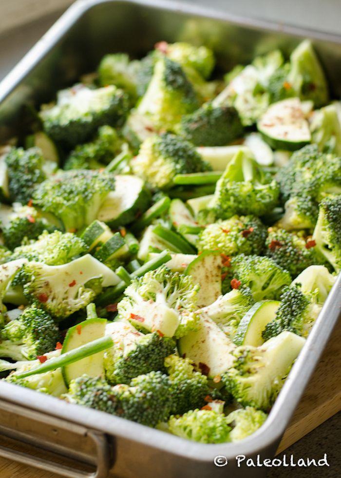 geroosterde groene groenten
