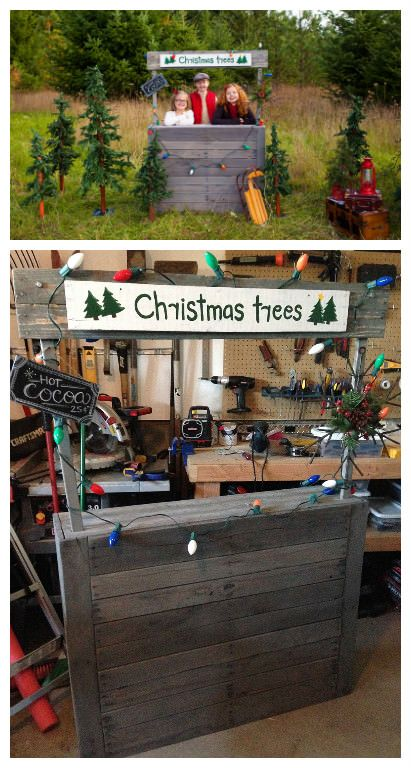 Kids christmas tree stand pallet ideas trees for Pallet lemonade stand plans