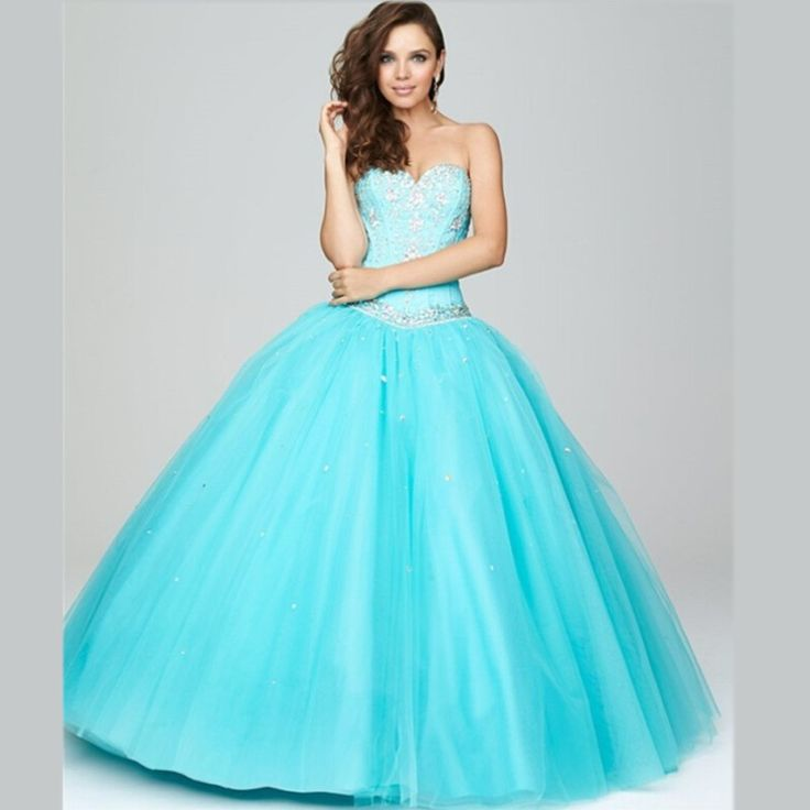 New Arrival Turquoise Quinceanera Dresses 2015 Beaded ...