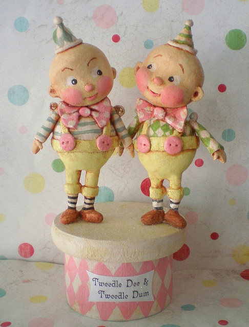 Tweedledee and Tweedledum by the polka dot pixie