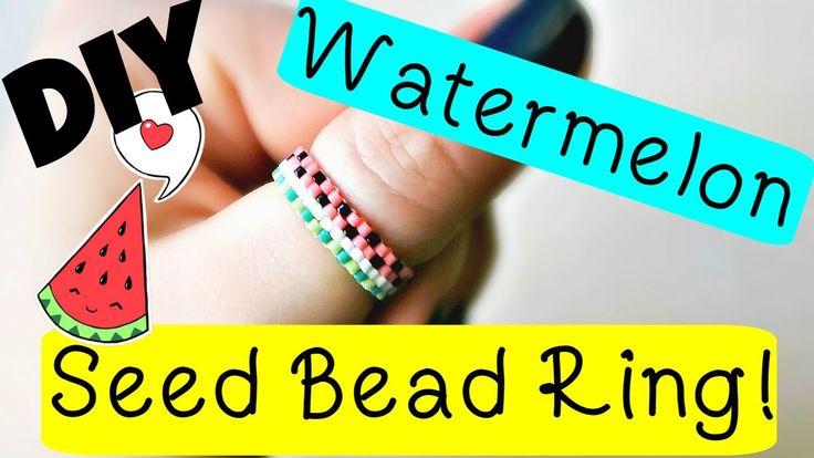 DIY Watermelon Seed Bead Ring // Bead Weaving // ¦ The Corner of Craft