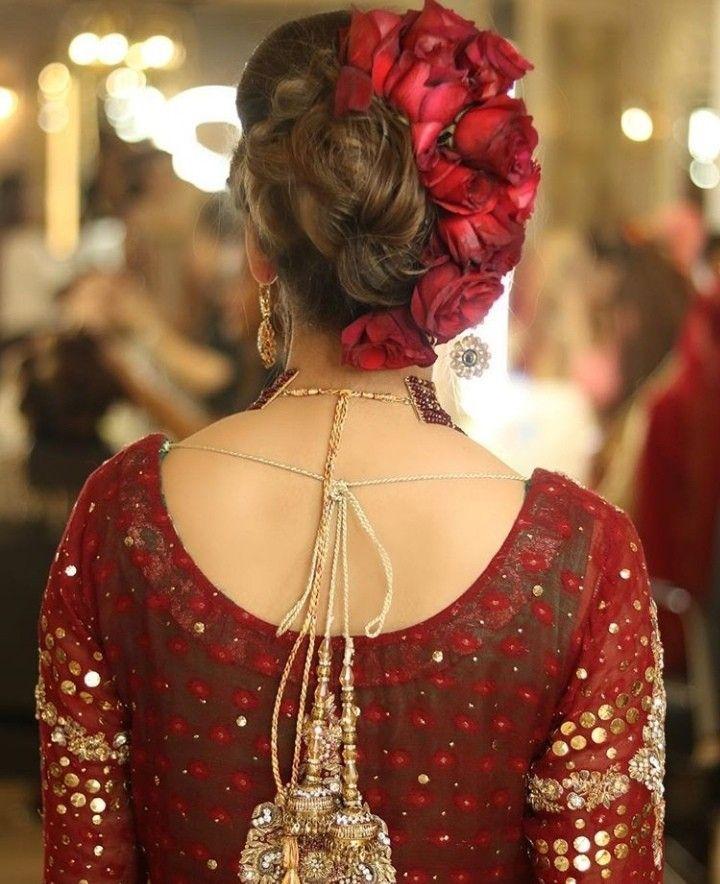 Pin By Aiman Azmat On Fashion Bridal Hair Buns Bridal Hairstyle Indian Wedding Indian Wedding Hairstyles