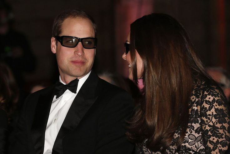 """Britain's Prince William and his wife Catherine, the Duchess of Cambridge, wear 3D glasses before a screening of """"David Attenborough's Natural History Museum Alive 3D"""" at the Natural History Museum in London"""