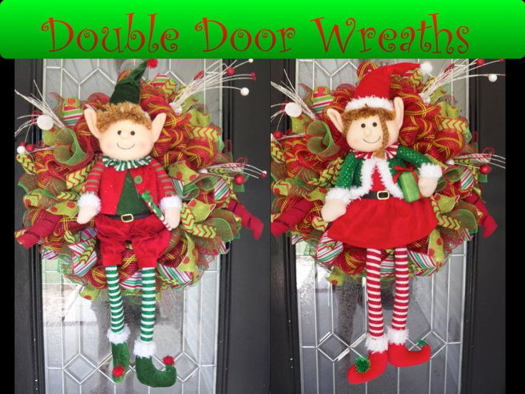 Double Door Christmas Wreaths, Holiday Wreaths, Door Hanger, Wreath for door, Front door wreaths, Ready to Ship by OccasionsBoutique on Etsy