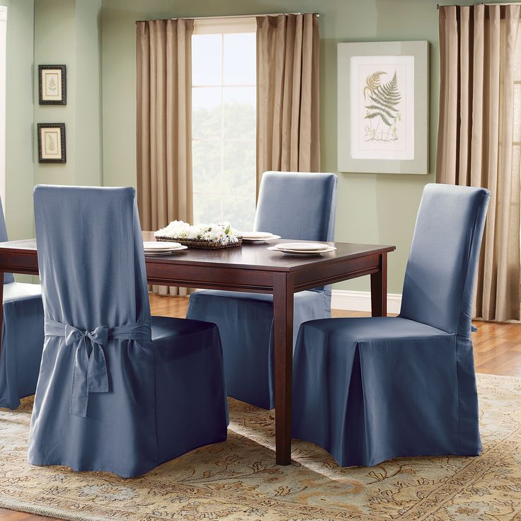 1000 ideas about dining room chair slipcovers on