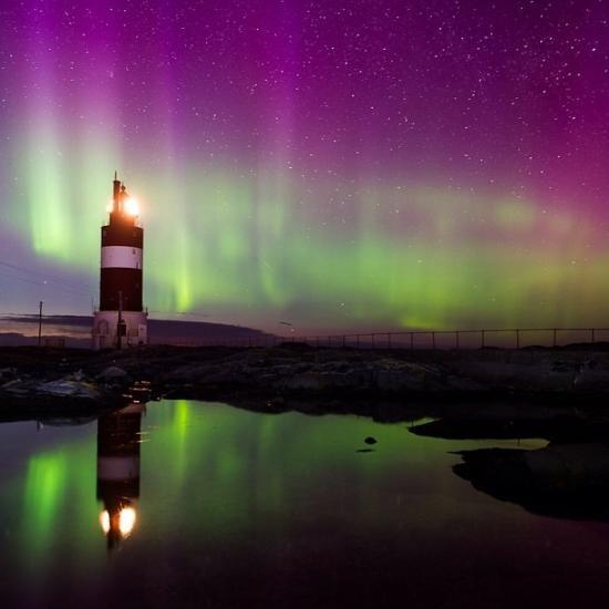 Northern light; Smøla - Veiholmen fyr