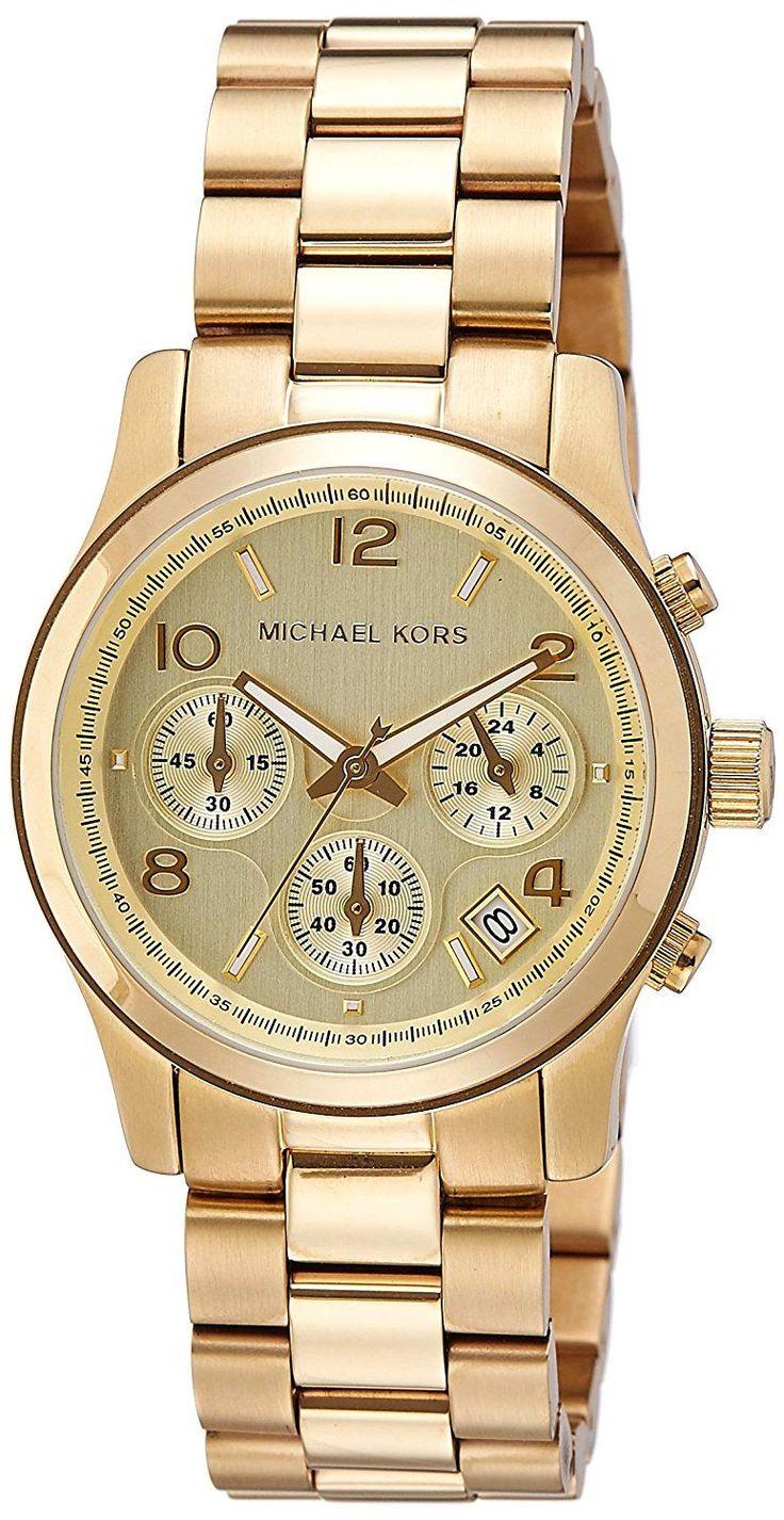 Michael Kors MK5055 - Reloj de cuarzo con correa de acero inoxidable para mujer, color dorado #reloj #relojdorado #relojes #relojesdorado #relojespana #relojespana #relojmk #relojesmk