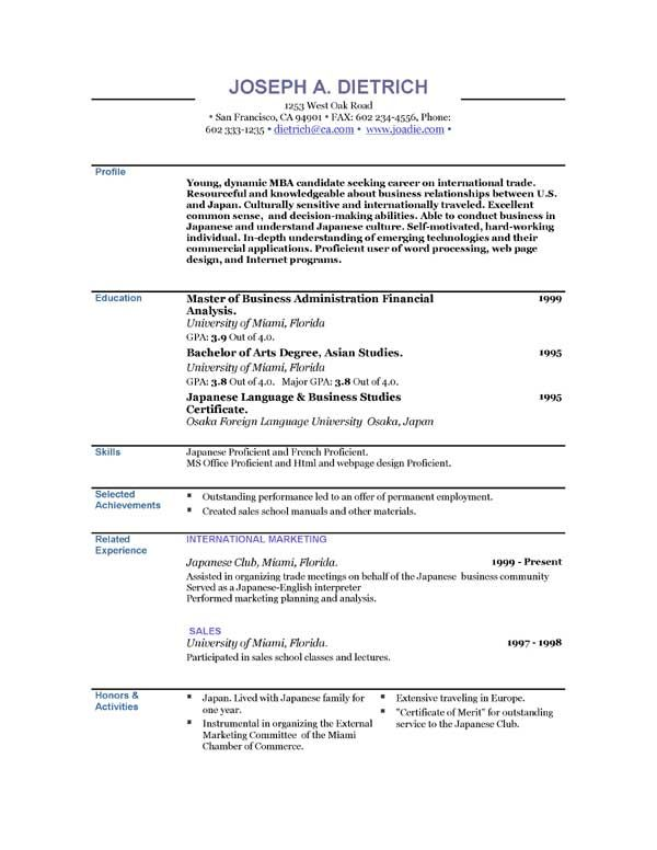 how to make a resumes