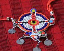Charm Halskette Massai Massai Schmuck Schmuck authentische Handarbeit Fair-Trade Nächstenliebe Afrikanische Stammes-Kenia groß hell Geschenk