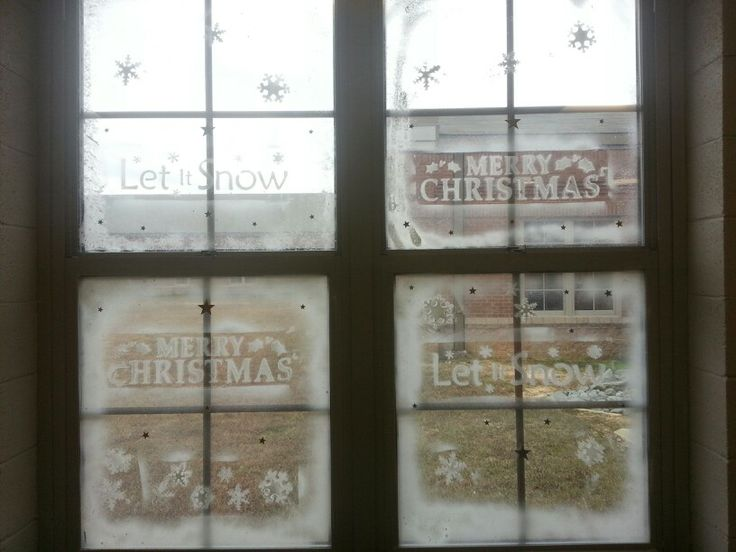 The best spray snow on windows ideas pinterest