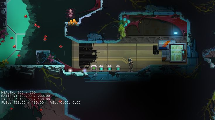 #screenshotsaturday #starlit Here is a WIP #StarLit Colony shot of a console in an exotic biodome...
