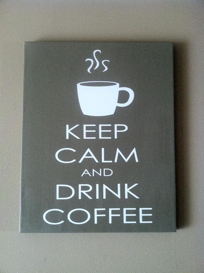 Redefining C: KEEP CALM AND DRINK COFFEE canvas sign
