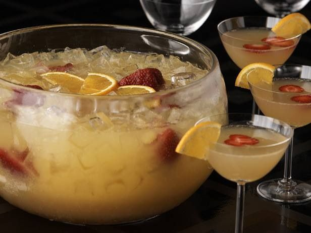 Mimosa Punch: Orange Juice, Ginger Ale, Grand Marnier and Champagne
