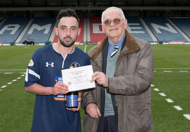 Queen's Park's Anton Brady Man of the Match after the Ladbrokes League One game between Queen's Park and Stenhousemuir.