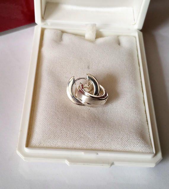 Creolen Ohrringe Silber 925 Vintage Design SO178