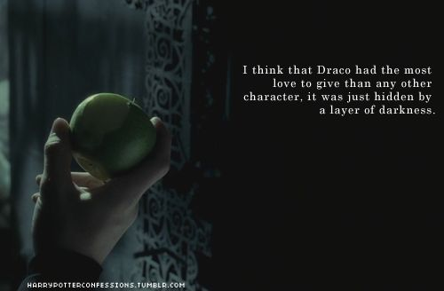 I think Draco would have the most interesting story to be told. He needs his own story. <3