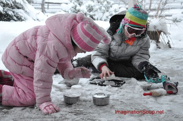 Go Outside and Play in Your Snow Kitchen