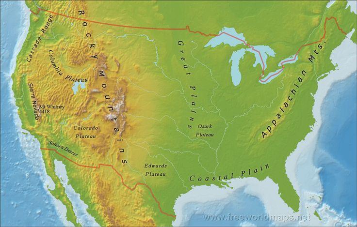 US Mountain Ranges Social Studies Pinterest Mountain Range - Cascade range on us map