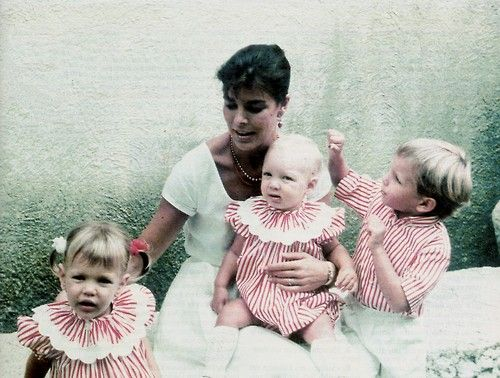 grace:  Princess Caroline of Monaco with her children Charlotte, Pierre and Andrea Casiraghi