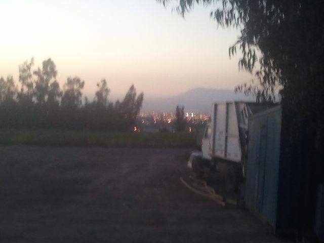 Terminando una jornada mas, con la vista desde lo alto de Santiago