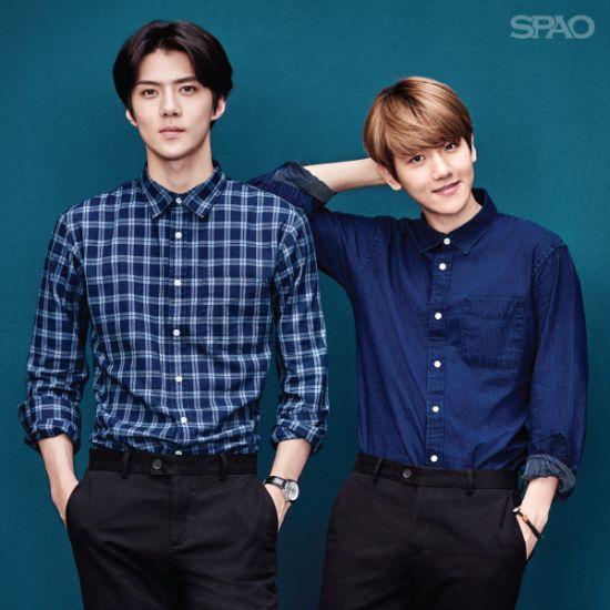 Sehun + Baekhyun   SPAO 2015 F/W