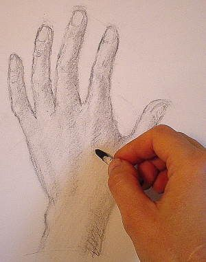 how to draw a hand