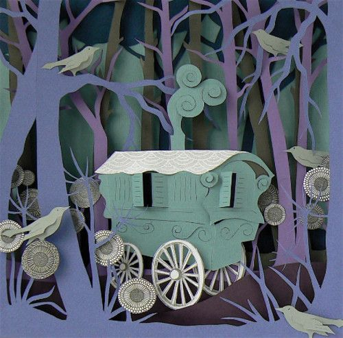 Helen Musselwhite : Romany Caravan    I like the birds which have been done seperately and added on- they look easy to make.
