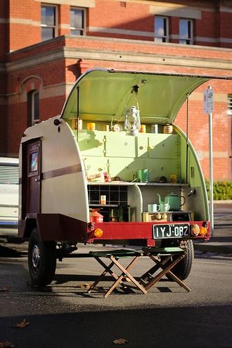 Vintage teardrop caravan. Heritiage Weekend 2012. Ballarat, Australia.
