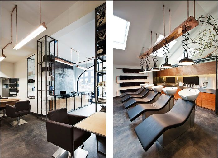 17 best images about hair dresser on pinterest lighting for Hair salon interior design photo