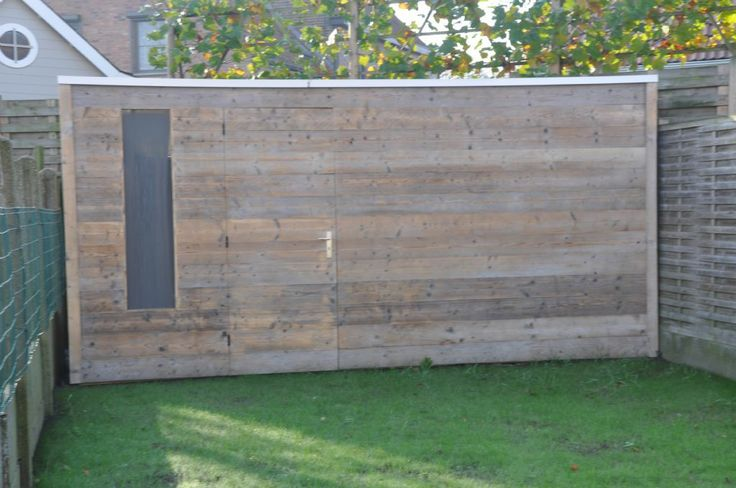 Tuinhous oud steigerhout ref marke tuinhuizen prieelen afsluitingen tuinmeubelen en - Moderne buiteninrichting ...