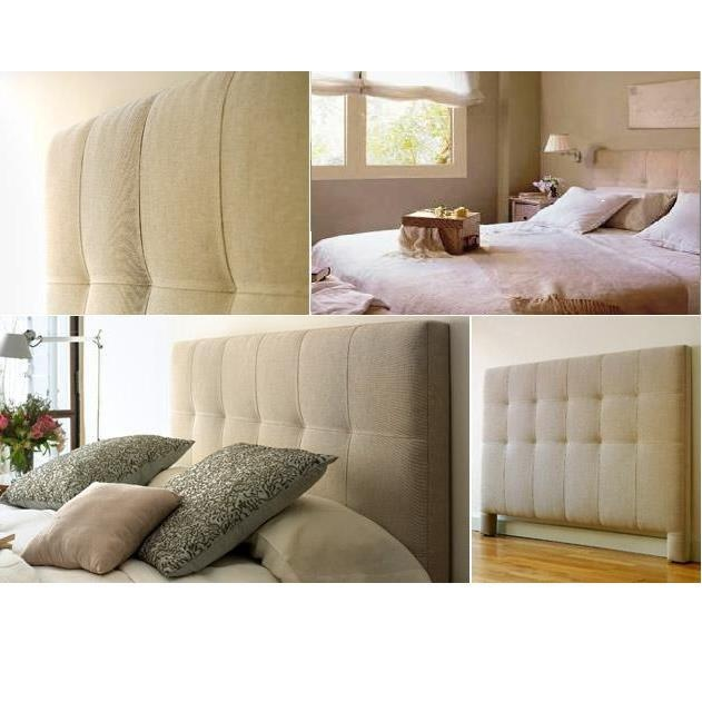 Cabecero cama tapizado tela cabeceros camas camas respaldos de cama y cabeceras - Cabeceros tapizados tela ...