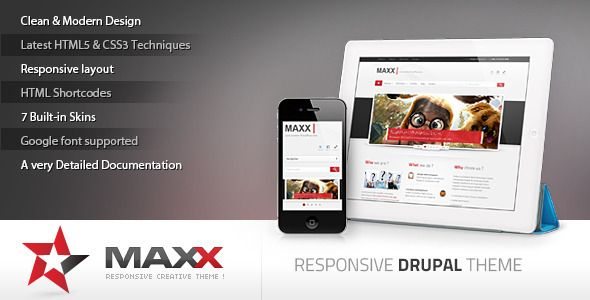 Maxx is a Modern Clean & Creative theme suitable for any corporate business or portfolio,It's created by using the latest techniques : HTML5 and CSS3. With a extremely responsive design That means it will fit any device (Desktop, tablet, smartphone…), completely optimized for your touchable device. Maxx has everything you'll want for your business website.