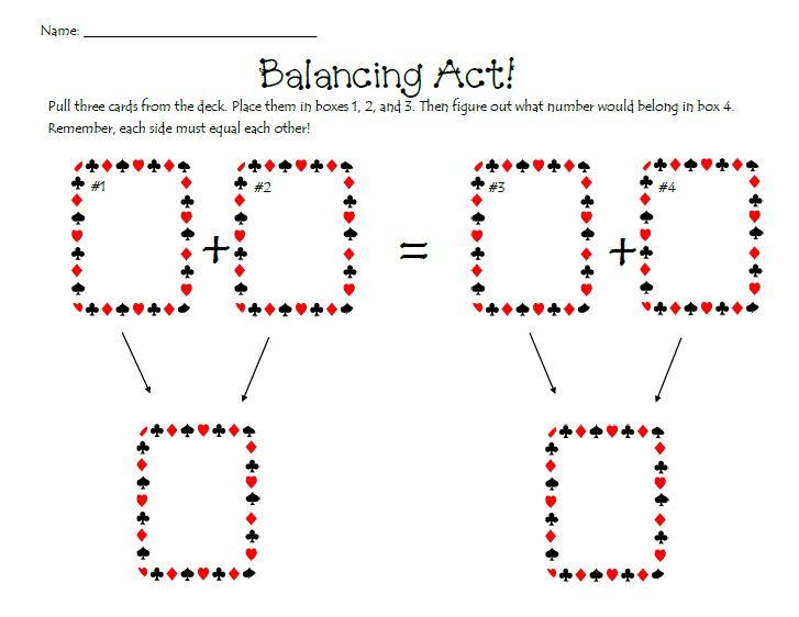 balancing act math game