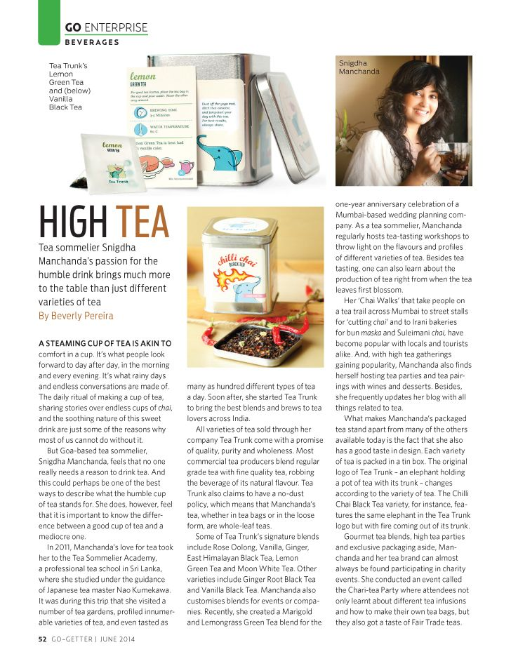 A tea sommelier who brings much more to the table than just different varieties of tea.  Source: http://adelightfulspace.wordpress.com/2014/06/24/high-tea/