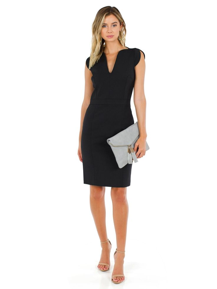 FRENCH CONNECTION - Lolo Stretch Dress - This dress screams girl boss. From conferences, to interviews, to a big meeting at work, it is sure to have you bringing your A game.