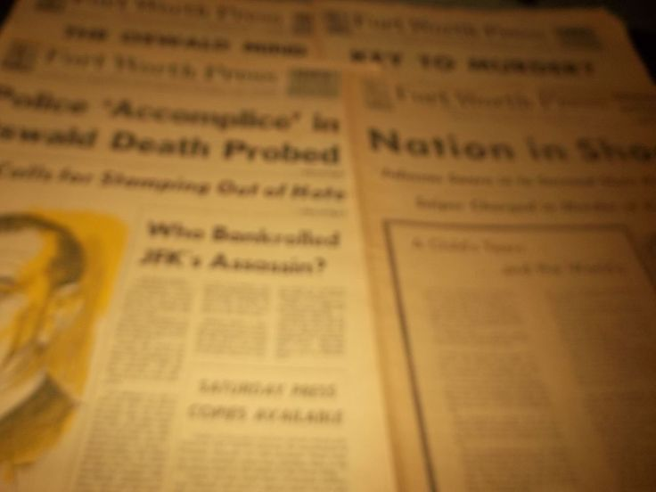Lot 4 Vintage Fort Worth Press John Kennedy Assassination  Lee Oswald Comics Ads