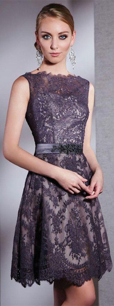 Dresses, Formal, Prom Dresses, Evening Wear: Short High Neck Lace Dress