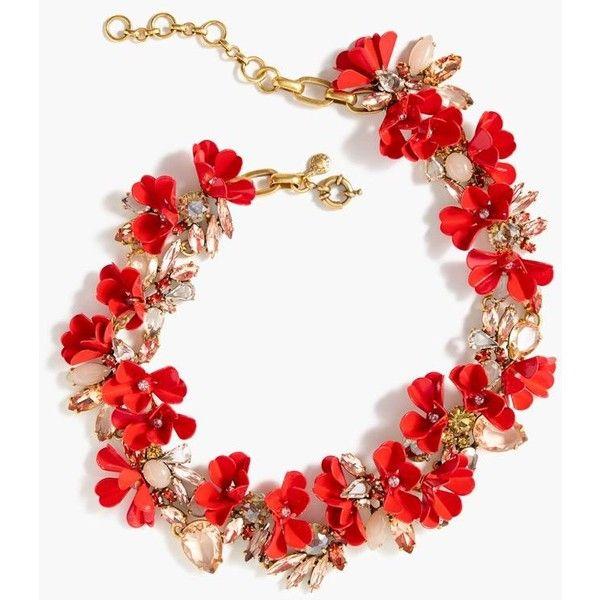J.Crew Mardi Gras necklace ($148) via Polyvore featuring jewelry, necklaces, j.crew necklace, j crew jewellery, j crew jewelry, steel necklace and steel jewelry