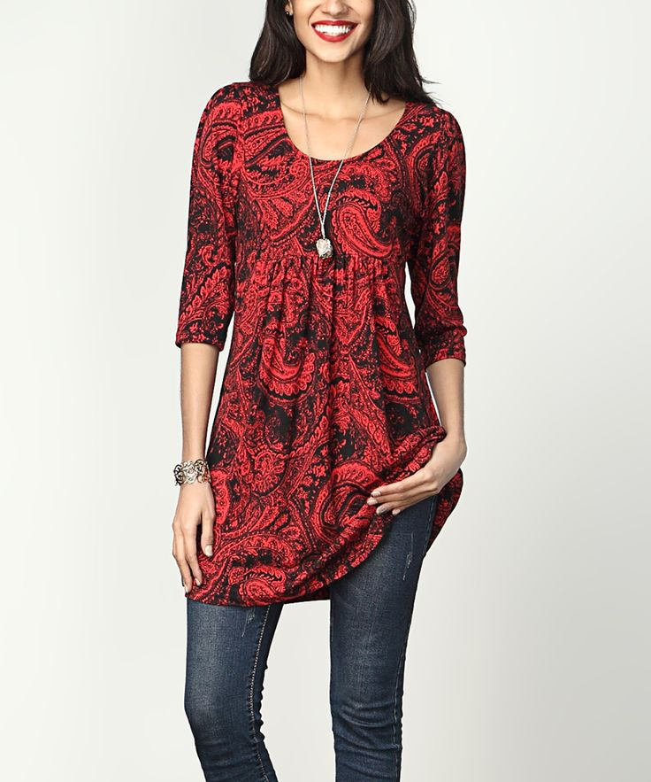 Pair this lengthy tunic with leggings to create a luxurious layered look. Thick fabric offers heaps of weight and warmth.Note: This is a one-of-a-kind item; prints may vary.Made for zulilyModel: 5' 8'' tall; 33'' chest; 24'' waist; 35'' hipsSize S: 35'' long from high point of shoulder to hemFitted bustKnit95% polyester / 5% spandexMachine wash; hang dryImportedShipping note: This item is made to order. Allow extra time for your special find to ship.
