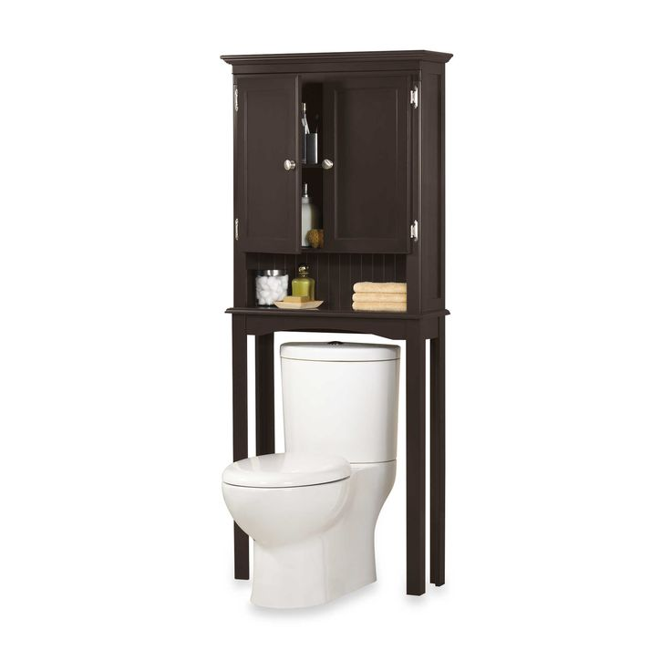 buy fairmont free standing space saver cabinet in espresso from at bed bath beyond this elegantly designed fairmont free standing space saver fits over