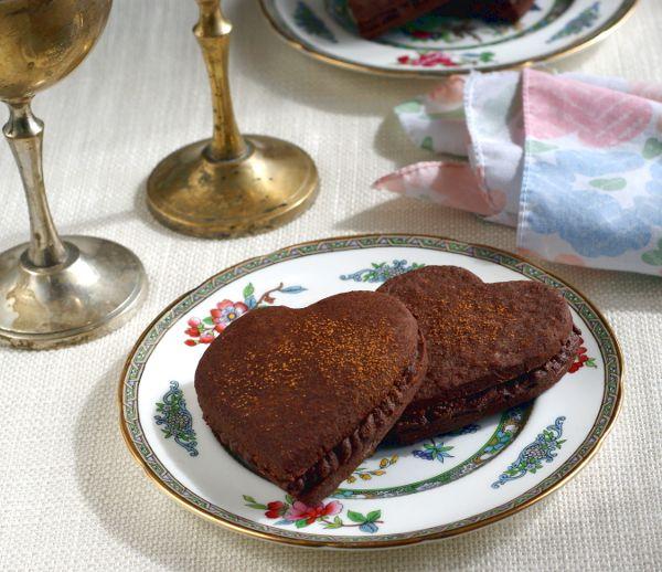 gluten-free chocolate cinnamon heart cookie recipe on rickiheller.com