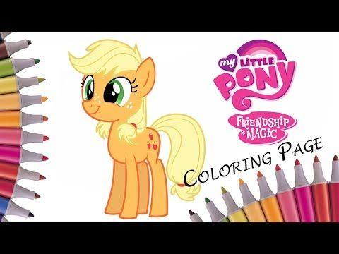 Разукрашиваем Эпплджека - Раскраска Мой маленький пони - Май литл пони/ ...