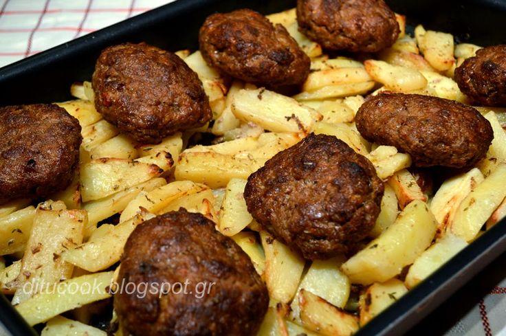 Γευστικές απολαύσεις από σπίτι: Mπιφτέκια με πατάτες στο φούρνο