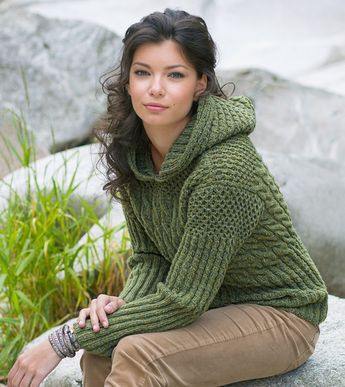 strickanleitung kapuzenpulli im mustermix pullover knit crochet and knitting ideas. Black Bedroom Furniture Sets. Home Design Ideas