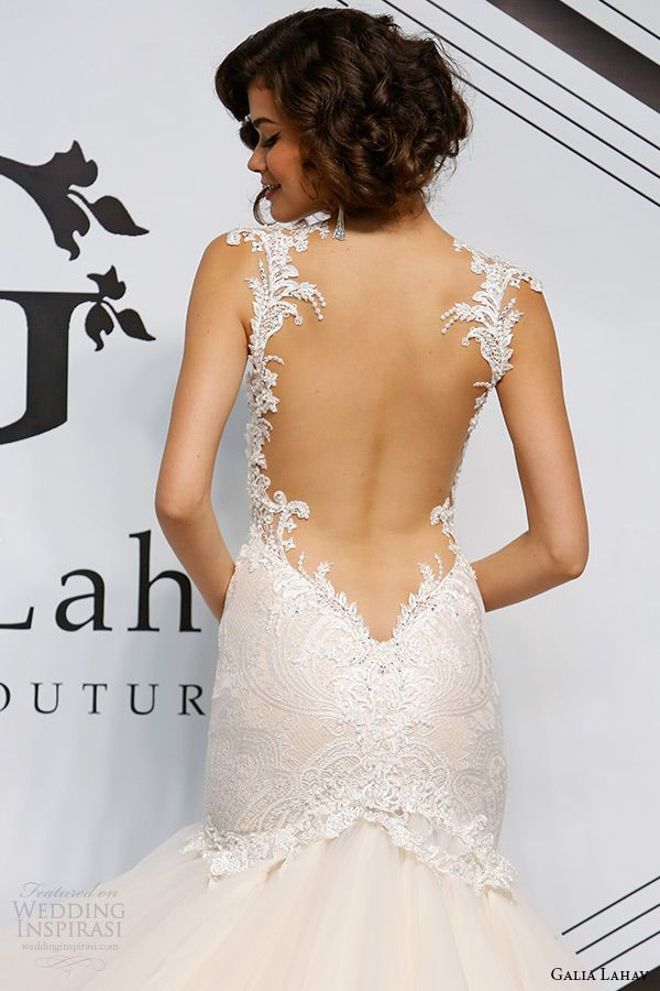 Bridal style inspiration boldly romantic featuring for Low cut back wedding dress