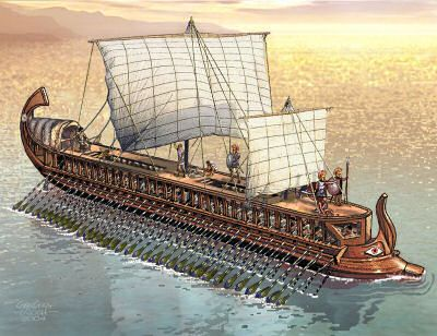 ancient greek ship art | Greek Triremes – The Ultimate Fighting Machines