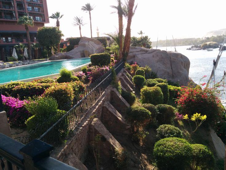 Cataract pool overseeing the nile in Aswan, Egypt!