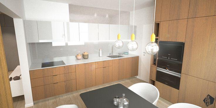 Návrh jedálne, var.02 - Interiér bytu Dibrovova, Stará Turá - Interiérový dizajn / Dining room interior by Archilab