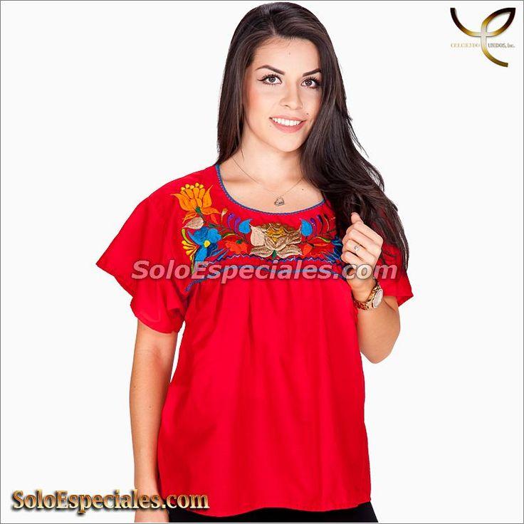 (MX-582002) 77109 Blusa Tipica Poblana - IMexico 2018, blusas a la moda, blusas a rayas, blusas a cuadros, blusas blancas, blusas bordadas a mano, blusas bonitas de moda, blusas blancas 2017#blusasmexicanas #blusasdemoda #blusastejidas #blusasbordadas #blusastipicas #blusasbonitas #blusasmexicanasmodernas #blusasconflores
